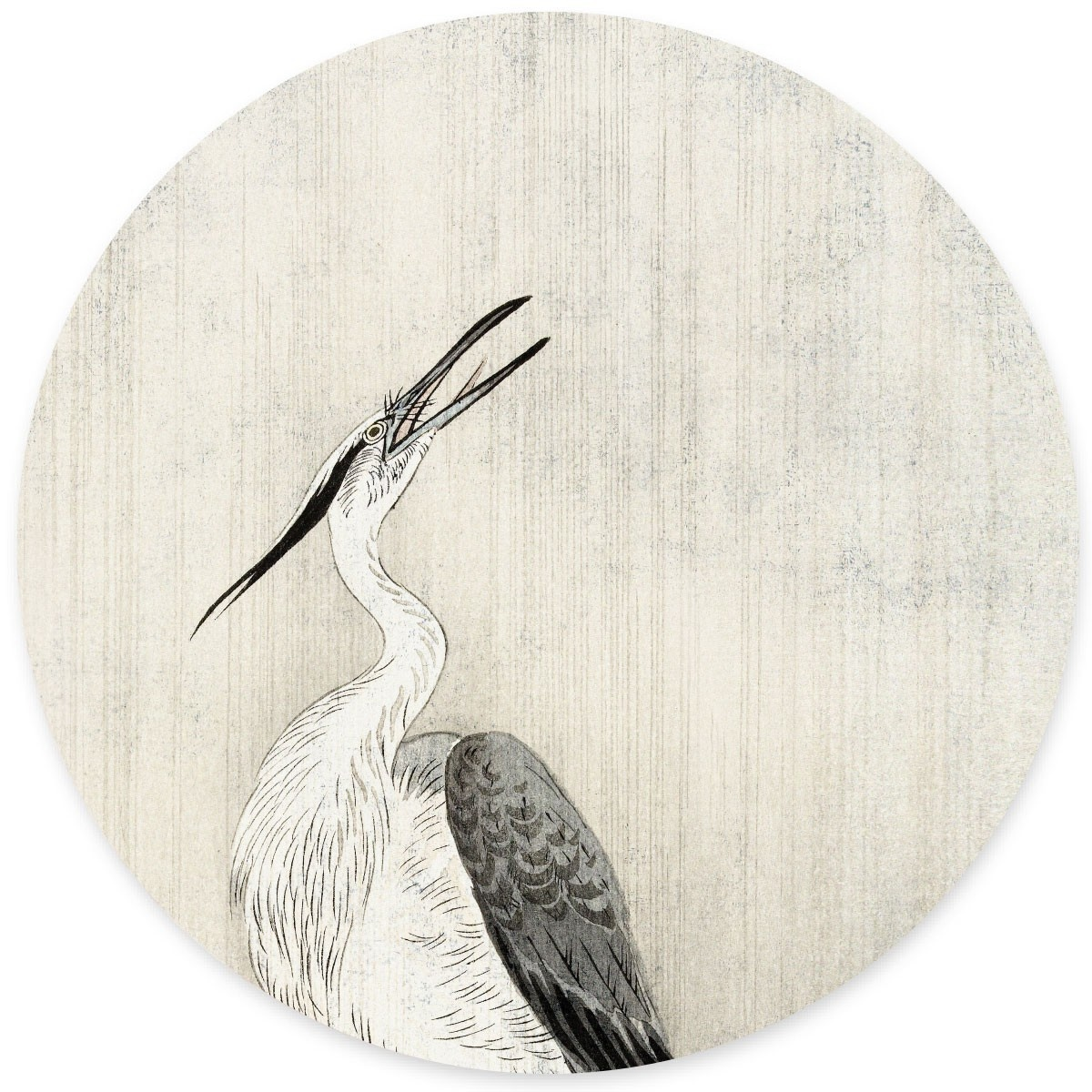 Groovy Magnets magnet sticker  Heron in the rain