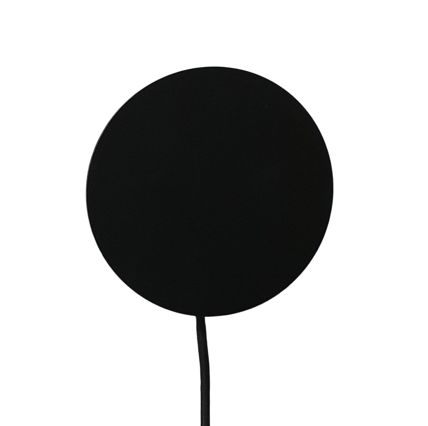 Stoer Metaal wandlamp Dot, zwart