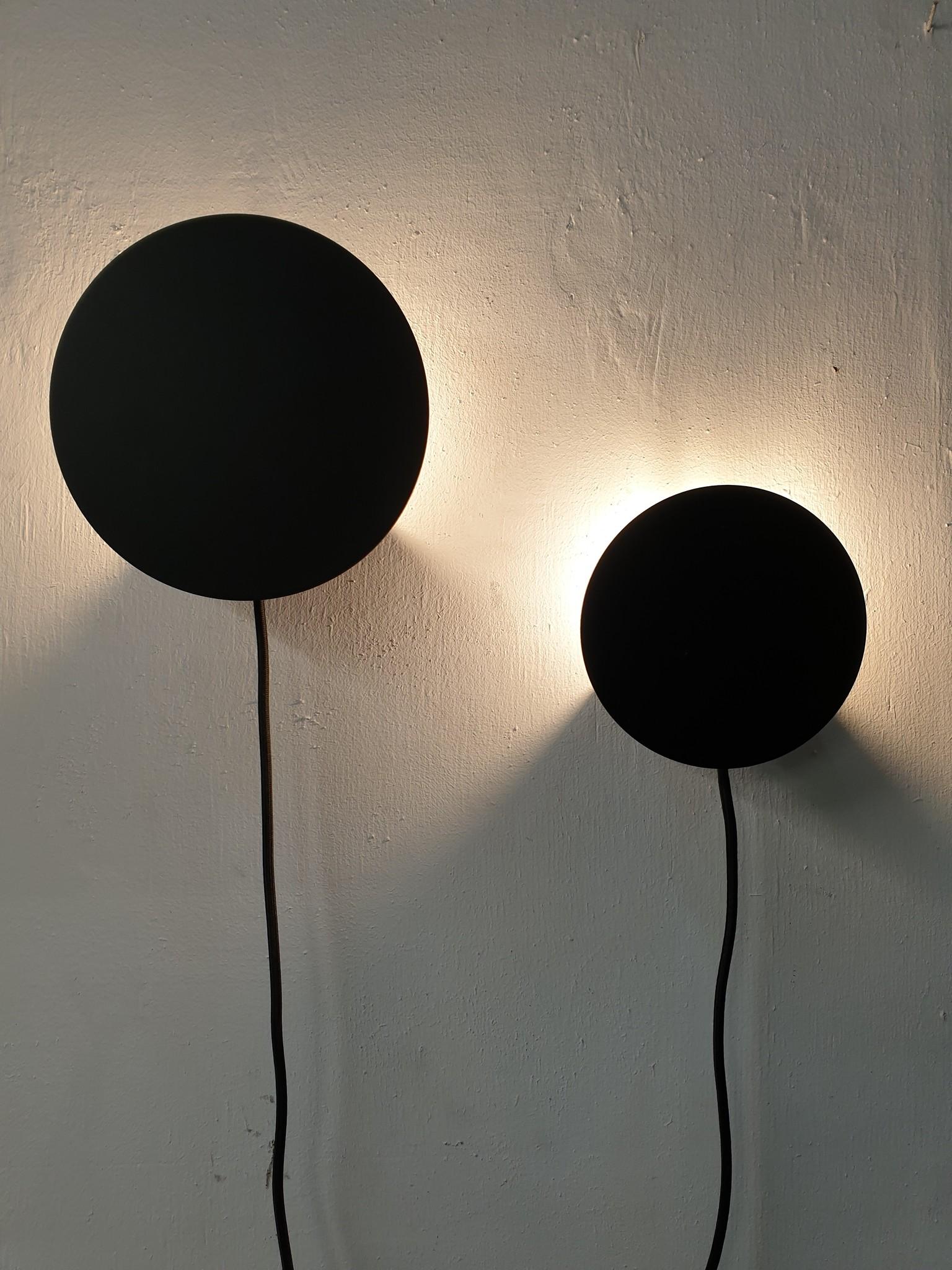 Stoer Metaal wall lamp Dot, black