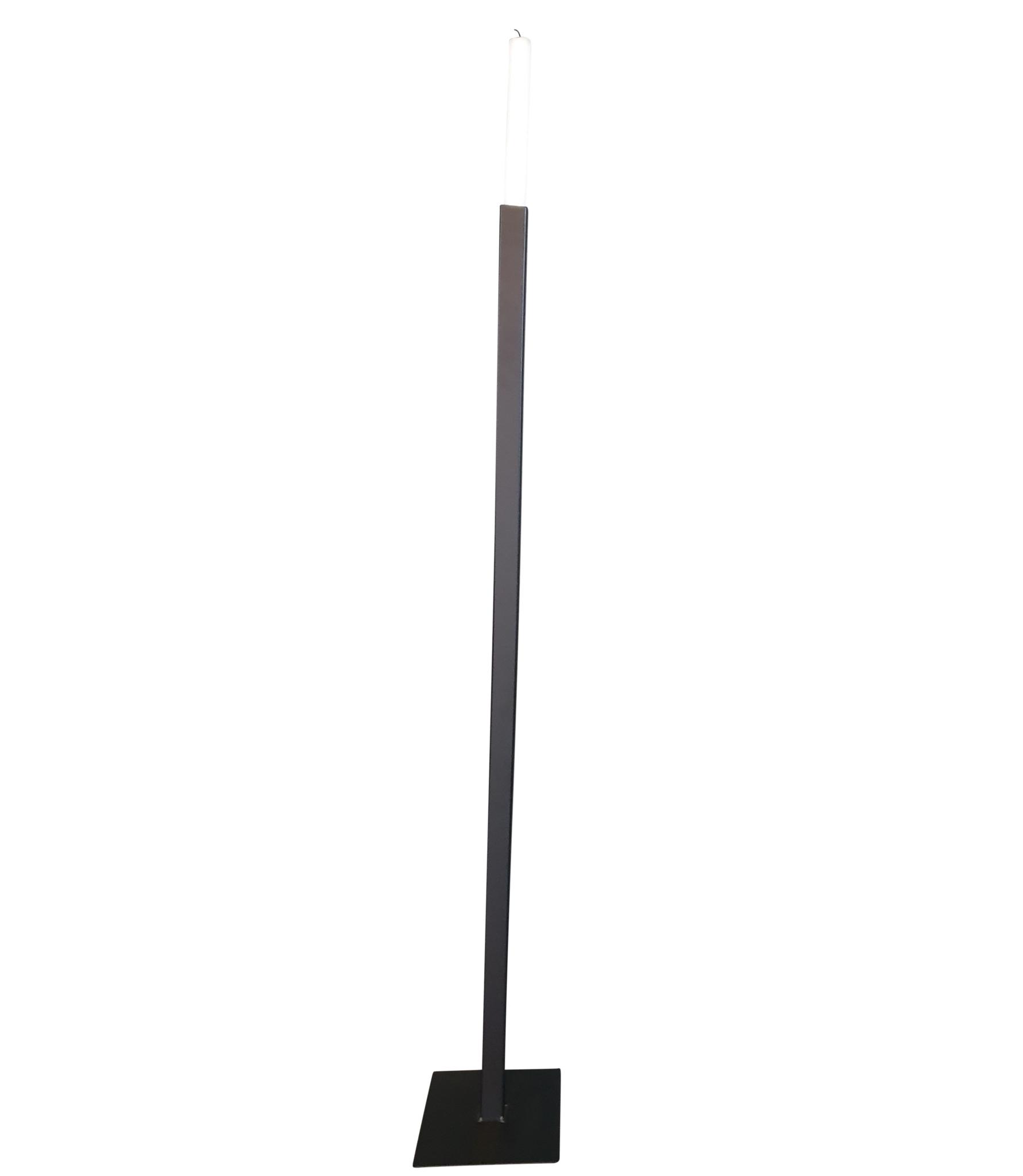 Stoer Metaal de vloerkandelaar Vierkant, zwart