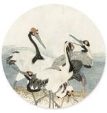 Groovy Magnets magneetsticker Cranes on the water, kraanvogel