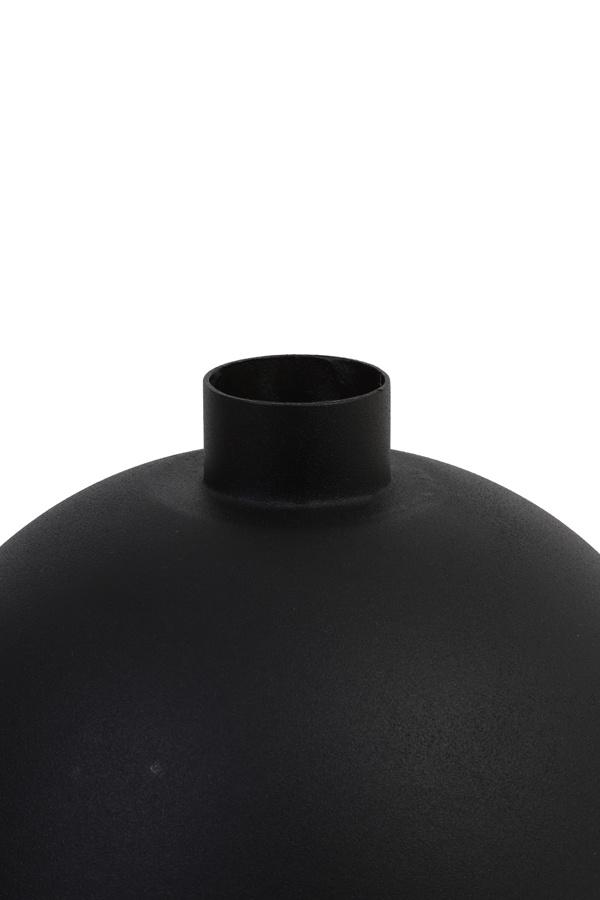 bolvormige vaas Binco, zwart