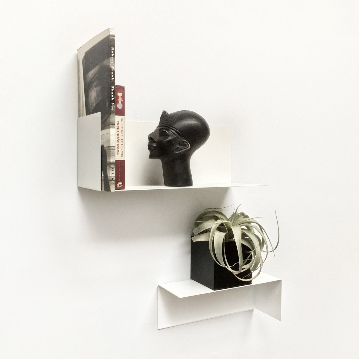 Groovy Magnets magnetisch wandplankje staal, wit