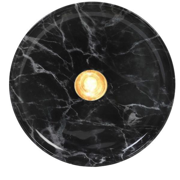 wandlamp Zambala, zwart gemarmerd