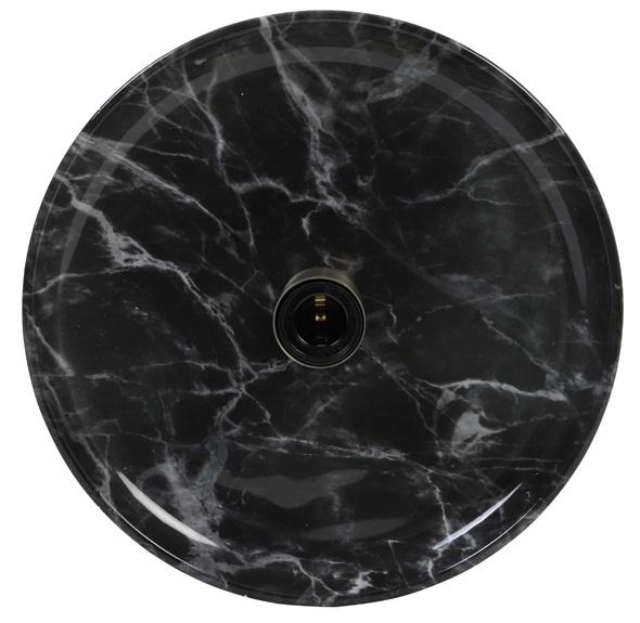 wall lamp Zambala, black marbled