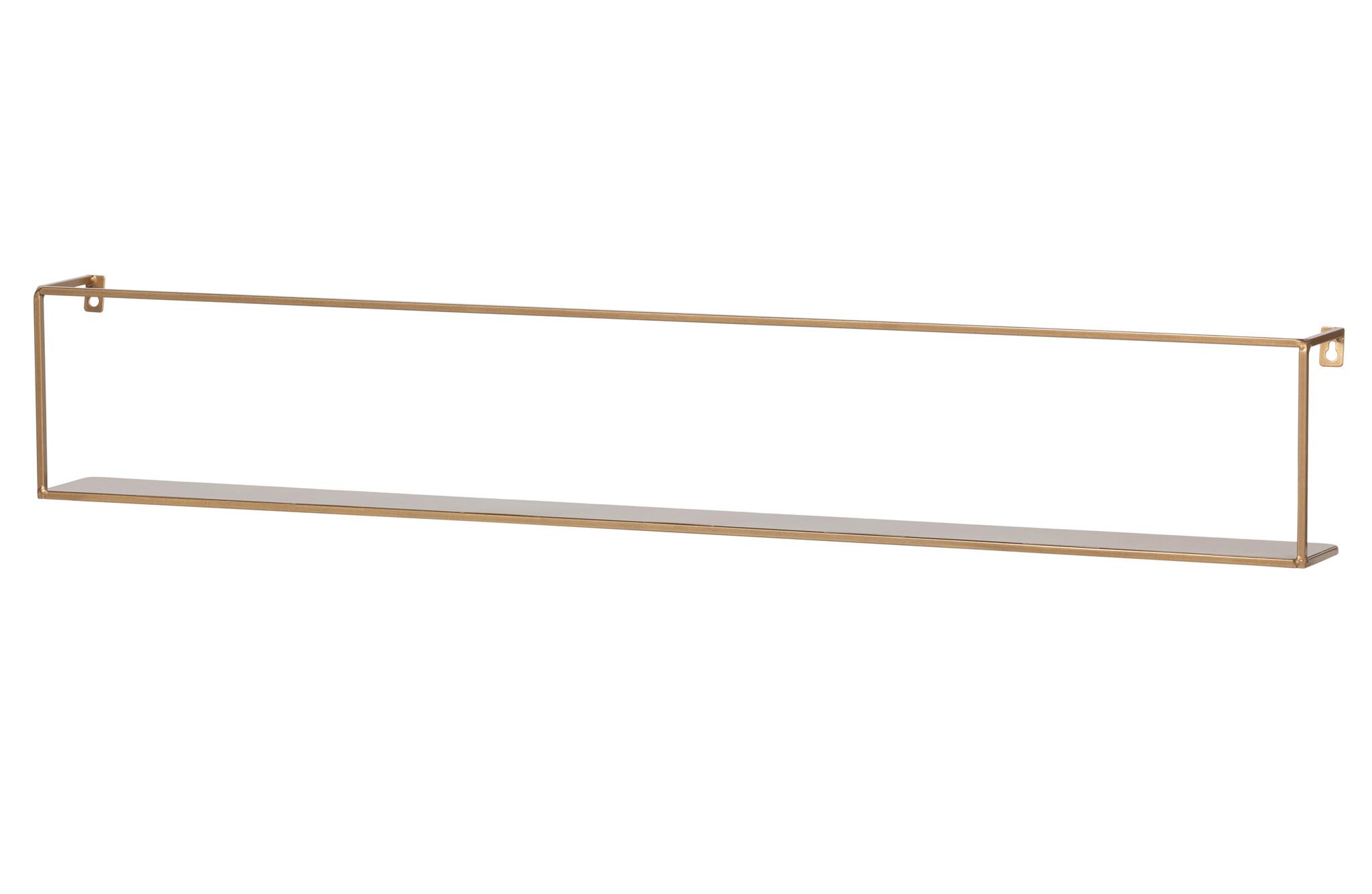 Woood wandplank Meert, goud, 100 cm