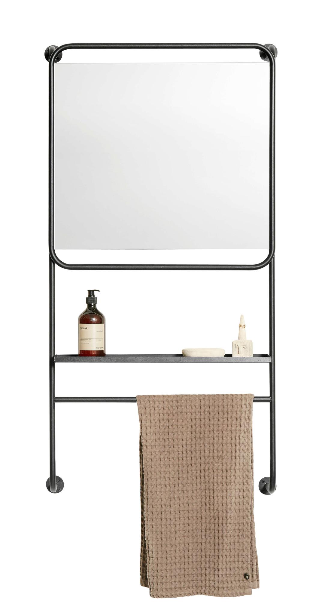 Muubs rek met spiegel en plank, Copenhagen