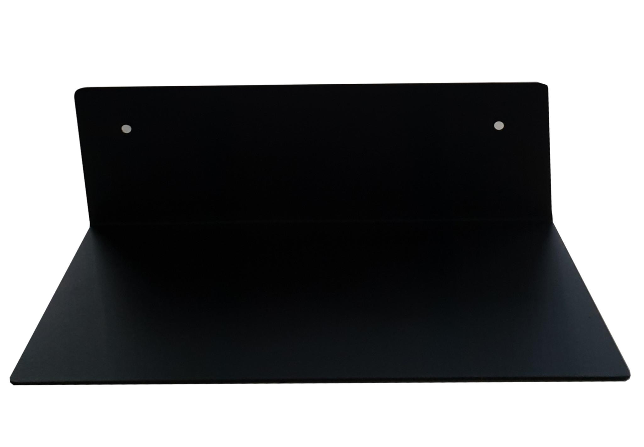 Stoer Metaal ijzeren wandplank, zwart