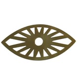 Les Petits Bohemes muurornament oog, goud koper
