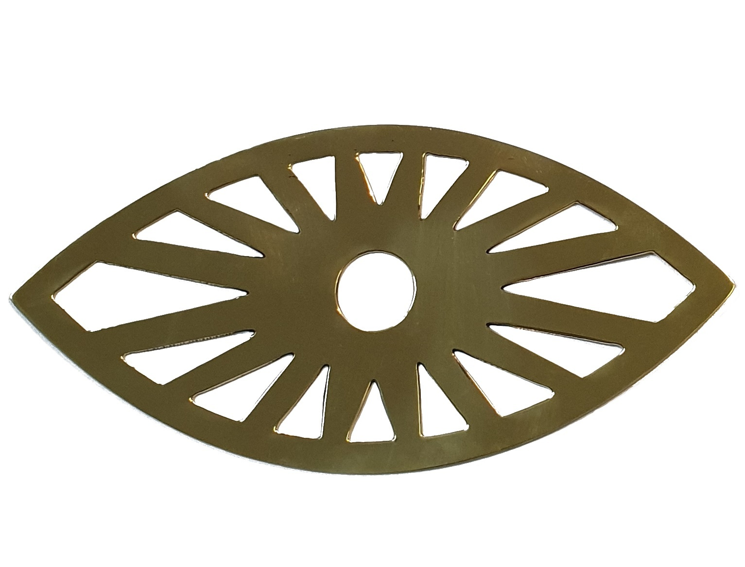 Les Petits Bohemes  wall ornament eye, brass copper