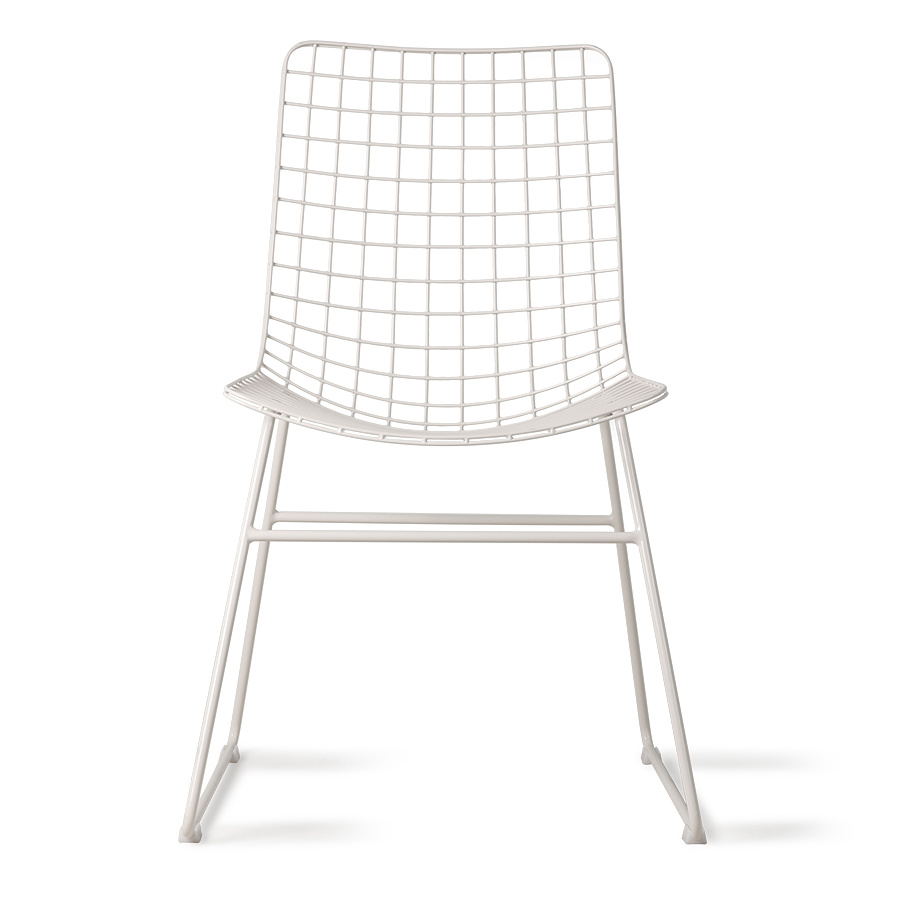 HKliving Wire chair, white