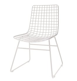 HK Living wire chair Wire, white