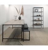 Stoer Metaal metal rack cabinet Tar, black