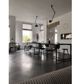 Stoer Metaal dining table Stoer03 iron frame with in between