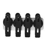House Doctor magnetic clips, black