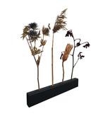 Stoer Metaal bloemenhouder voor aan de wand