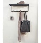 Stoer Metaal coat rack Plaat, black