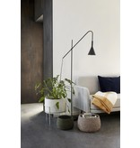 Hübsch floor lamp, black