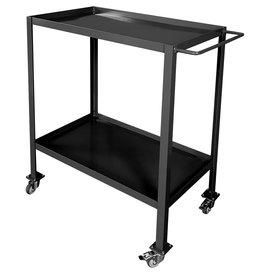 Stoer Metaal trolley, zwart