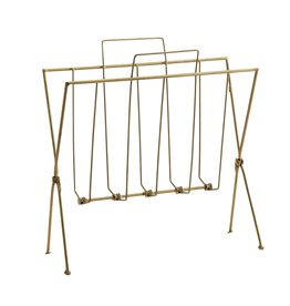 Madam Stoltz magazine rack, gold