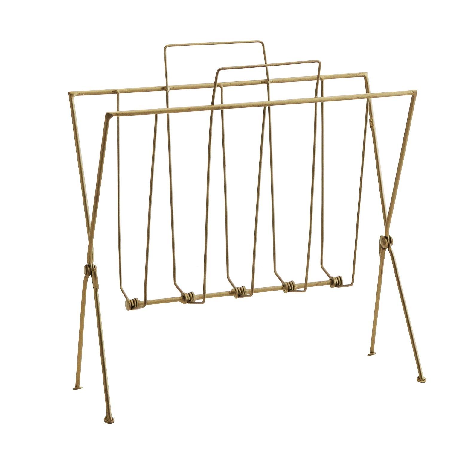 Madam Stoltz magazine rack, gold