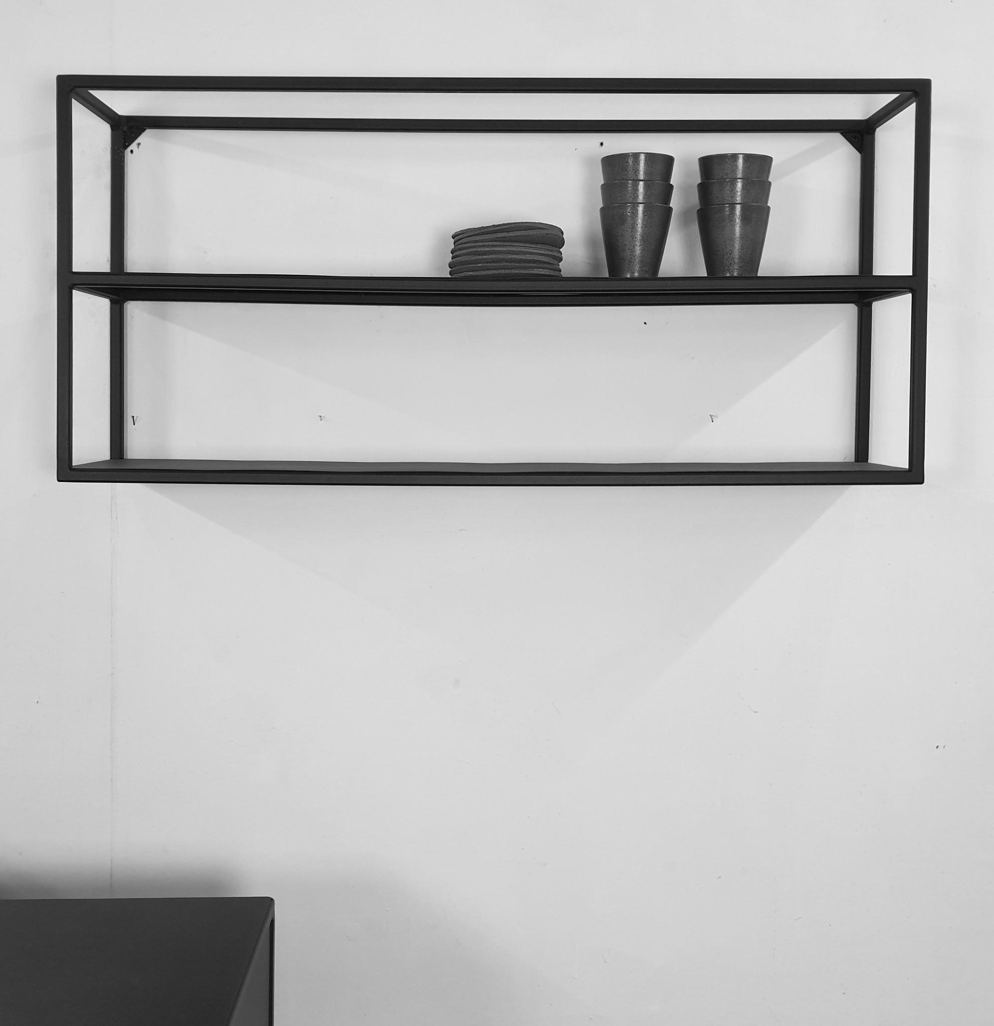 Stoer Metaal wall rack Jib, black