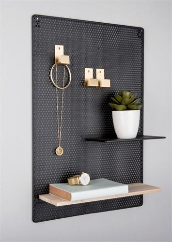 Present Time memo bord Perky, mesh, zwart
