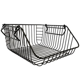 Stackable  basket, black