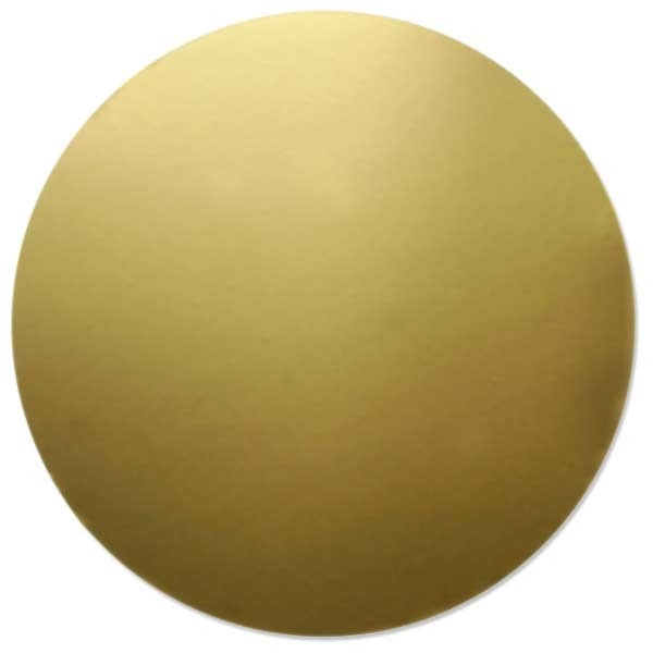 Groovy Magnets magnet sticker, round, gold