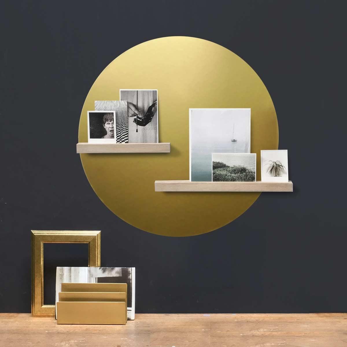 Groovy Magnets magnet sticker, round, gold