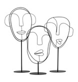Bodilson black metal stand with faces, Visage