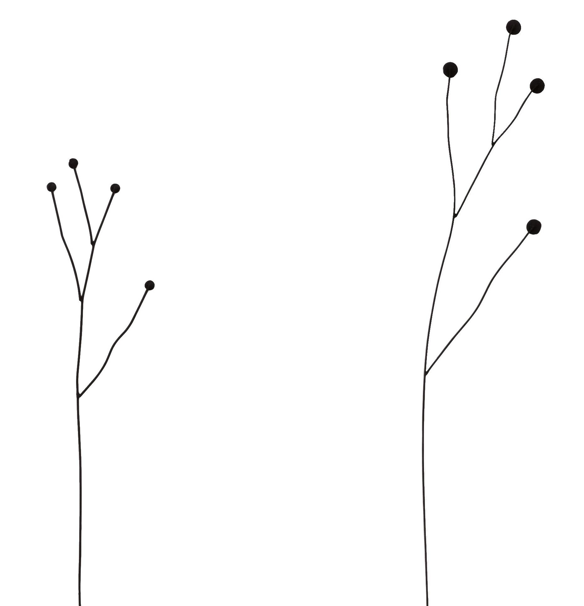 vtwonen zwart metalen bloem, Twig