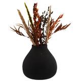 Madam Stoltz metal vase, black