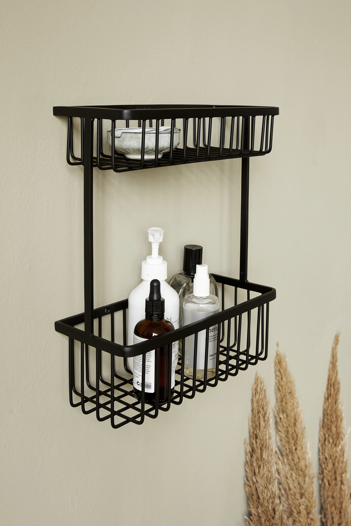 House Doctor Bath rack, black, double