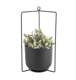 Present Time hanging pot Spatial, black