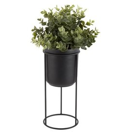 Present Time plant pot on standard Tub, black