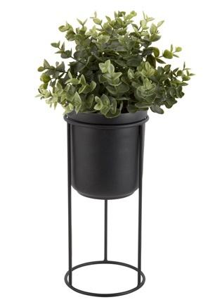 Present Time plant pot on standard Tub, black
