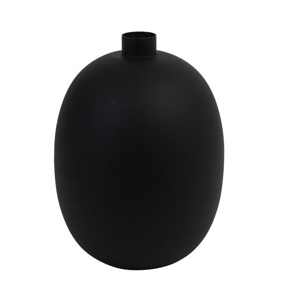 spherical vase Binco, black