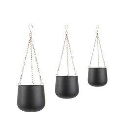 Present Time set hangpotjes Cask, zwart