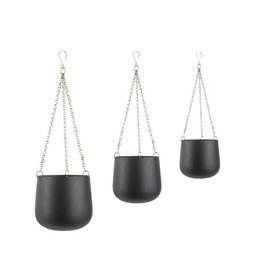 Present Time set of hanging pots Cask, black
