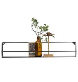 Woood wall shelf Zeta, black, 40 or 80 cm