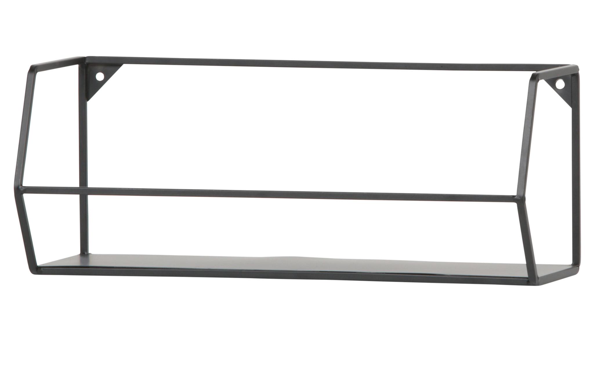 Woood wandplank Zeta, zwart, 40 of 80 cm