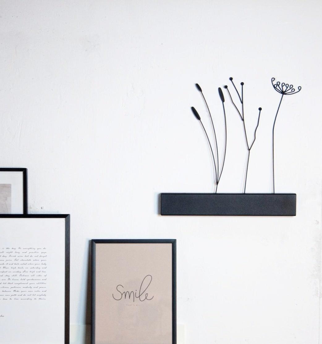 vtwonen black metal flower, Twig