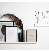 Stoer Metaal iron wall shelf, white, various sizes