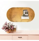 Groovy Magnets magnet sticker vintage gold,  oval