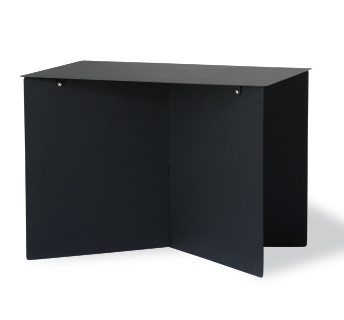 HKliving side table Rectangular, black