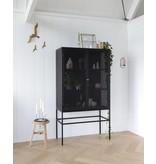 Bodilson metal cabinet Riva on legs, black