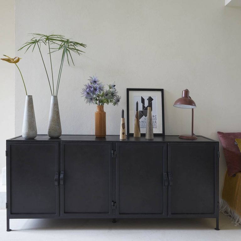 New Routz low iron cupboard, sideboard Detroit, black