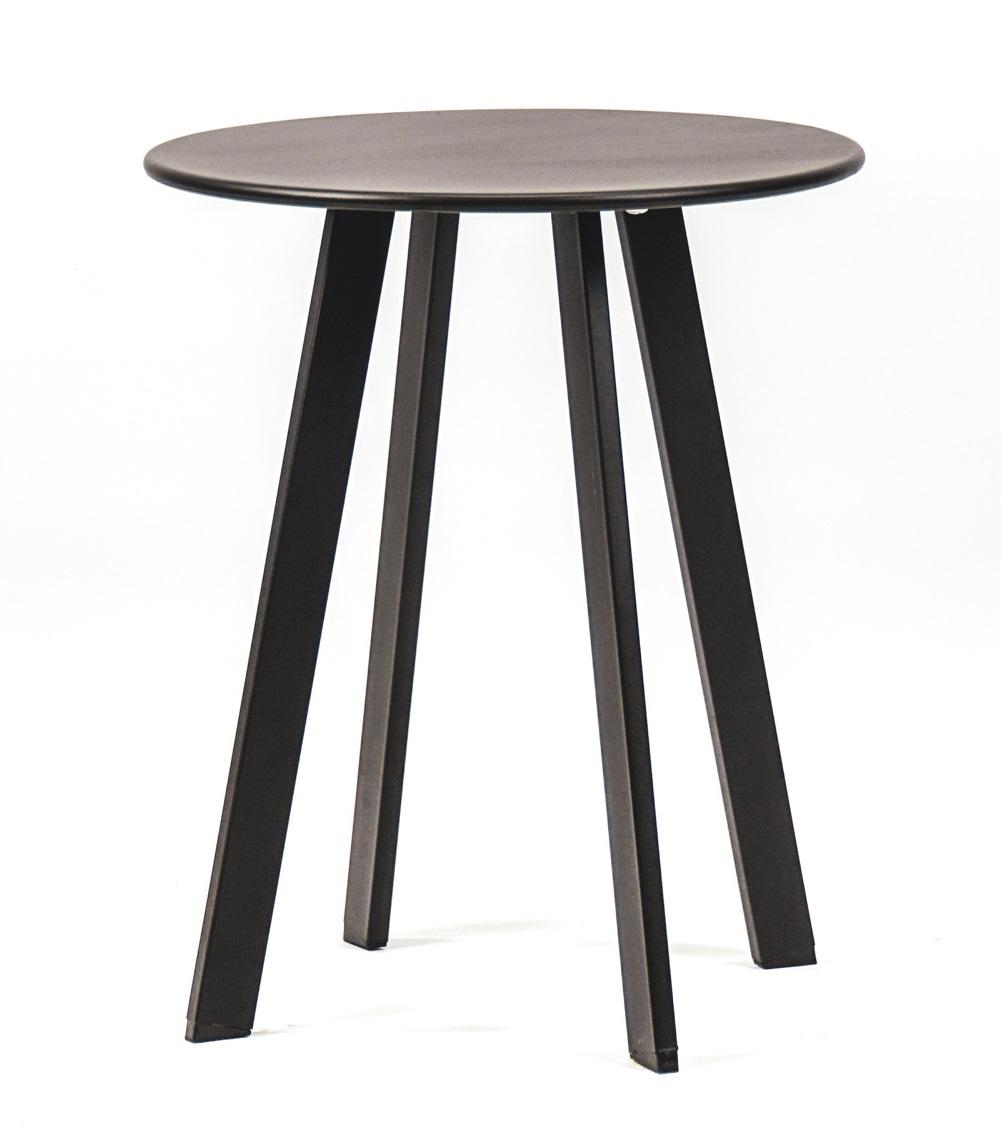 Woood side table Fer Ø 40, black