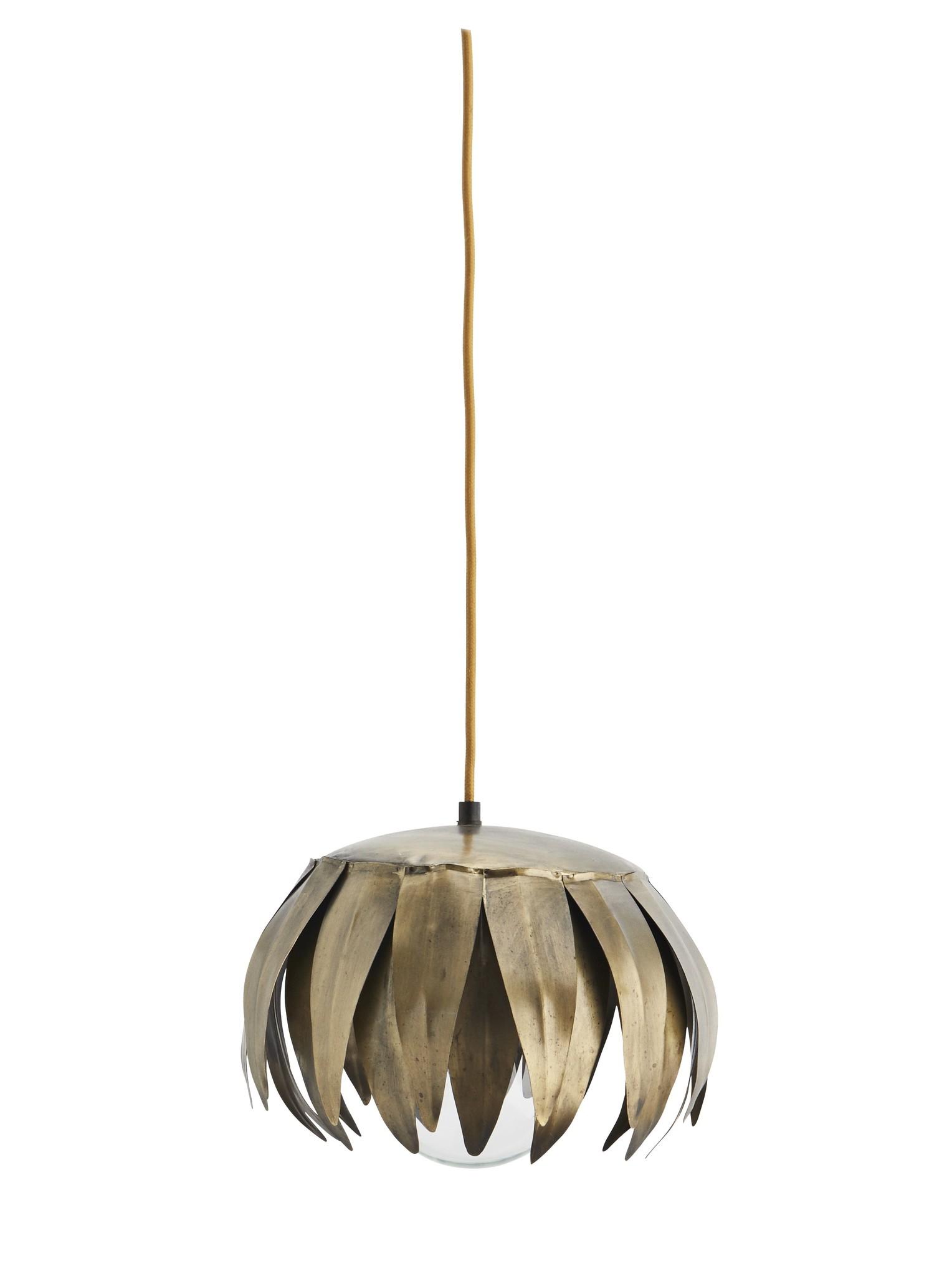 Madam Stoltz hanglamp Blad, goud